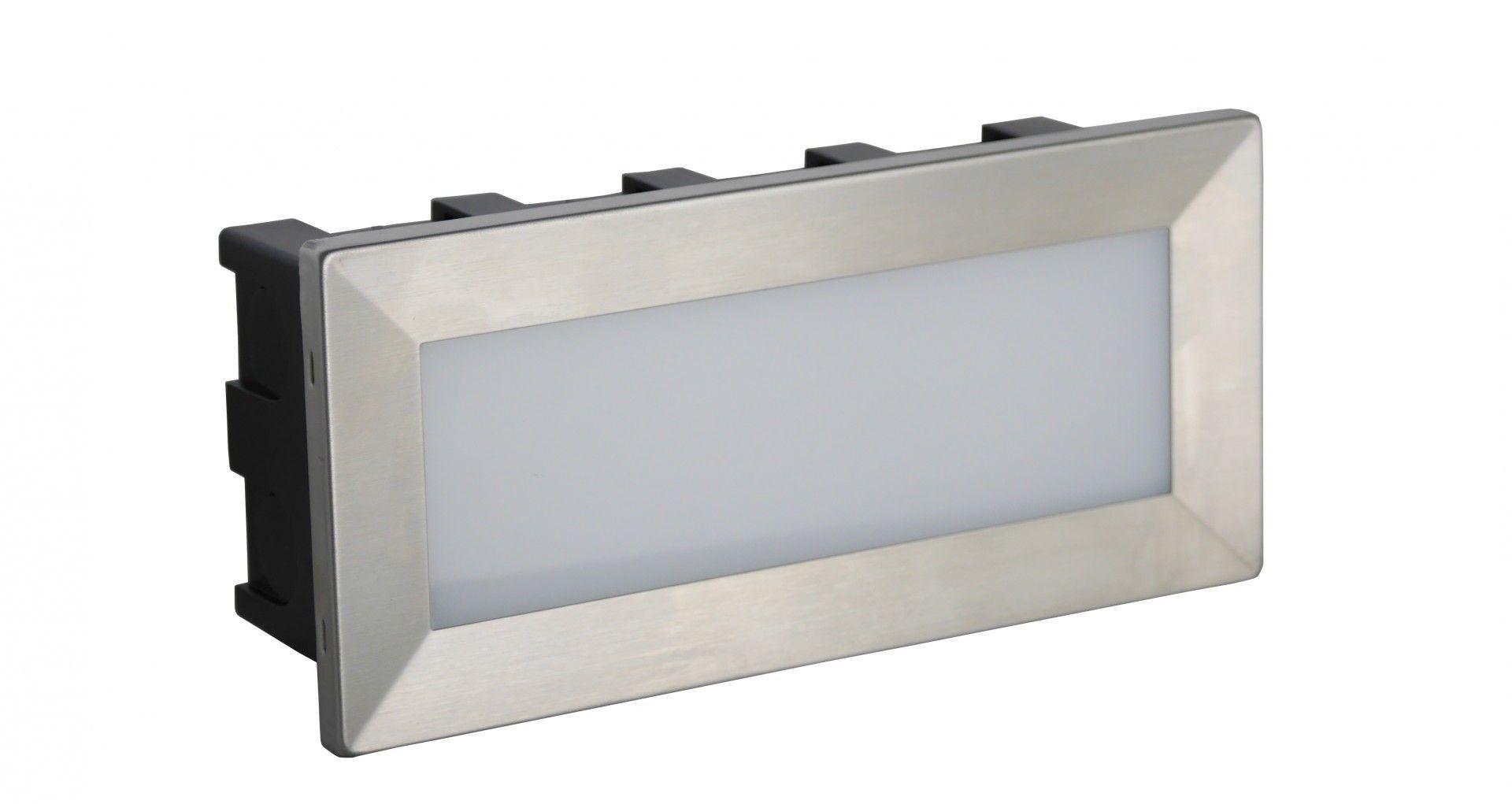 SU-MA Mur Led Inox C 04 oprawa do wbudowania LED 3,5W 3000K IP65