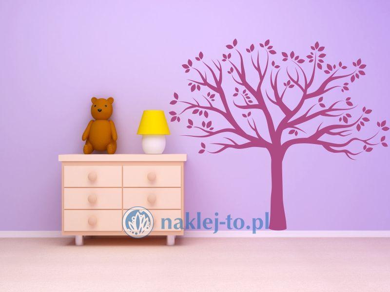 naklejka drzewo niskie naklejka na ścianę