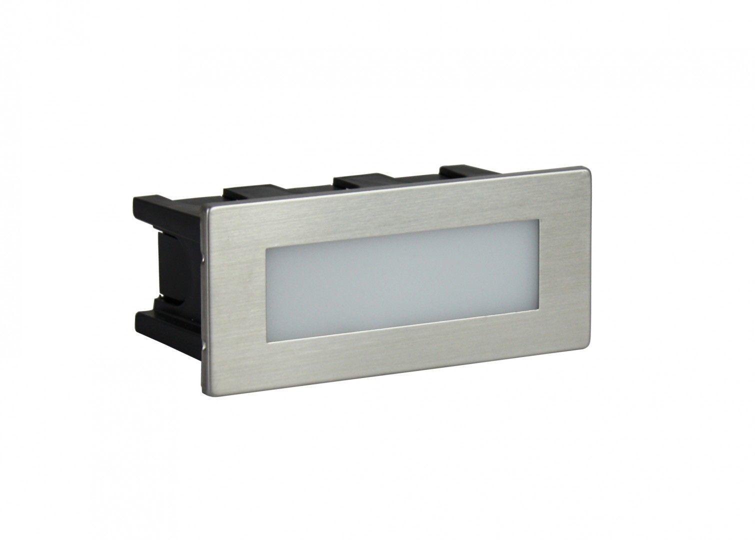 SU-MA Mur Led Inox E 04 oprawa do wbudowania LED 1,5W 3000K IP65