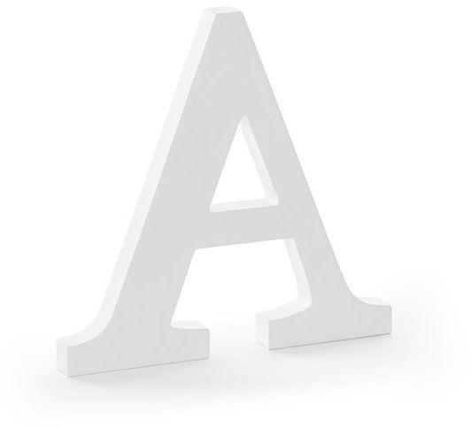 Drewniana litera A biała 20cm DL1-A-008