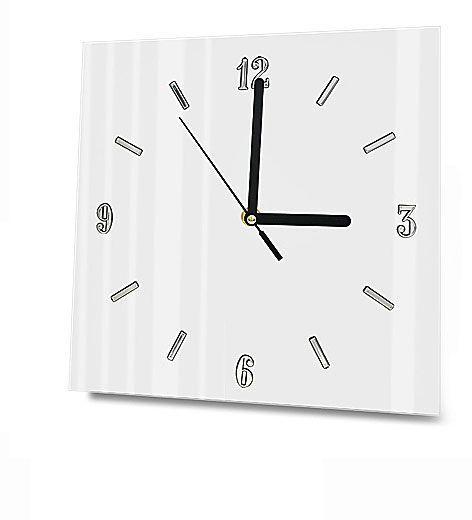 Szklany zegar ścienny Liptos 3R - 5 kolorów