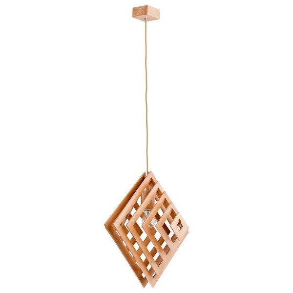 Lampa wisząca zwis ZOLTAN drewno śr. 46cm