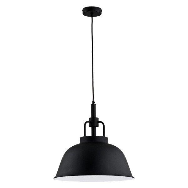 Lampa wisząca zwis ALCANTARA czarny/biały śr. 41cm