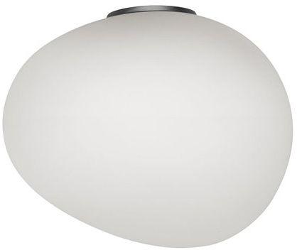 Gregg Grande Semi 2 H39 biały, grafit szary - Foscarini - lampa ścienna