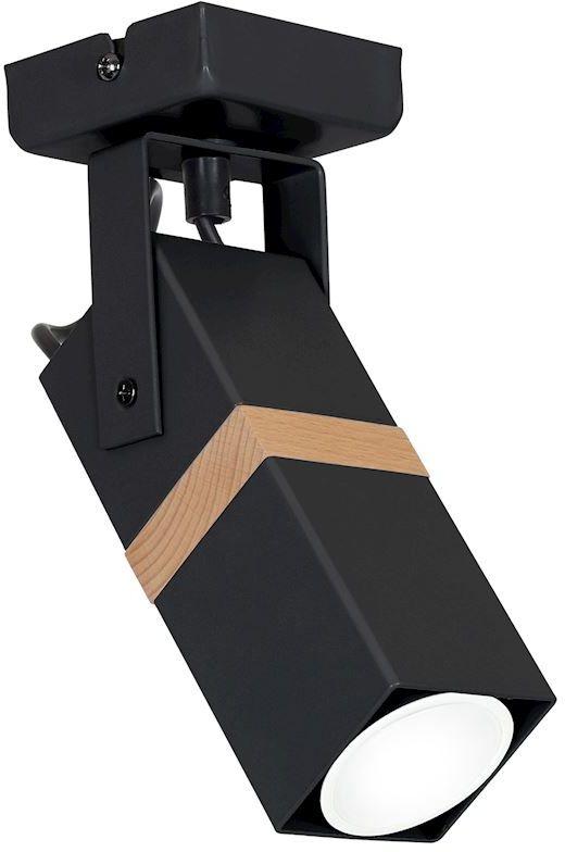 Milagro VIDAR BLACK MLP5400 oprawa natynkowa metal / drewno czarny 1xGU10 20cm