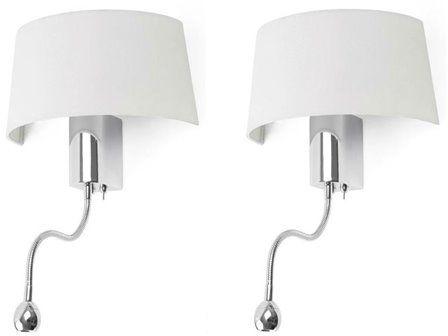 Hotel H50 biały - Faro - lampa ścienna
