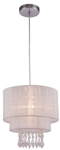 Lampa wisząca Leta RLD93350-1W Zuma Line biała oprawa w kryształowym stylu