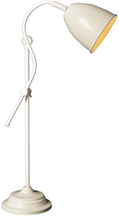 """Näve Leuchten 3110411 A++ do E, metalowa lampa stołowa """"Irland"""", 40 W, E14, beżowa, 13 x 19 x 53 cm"""