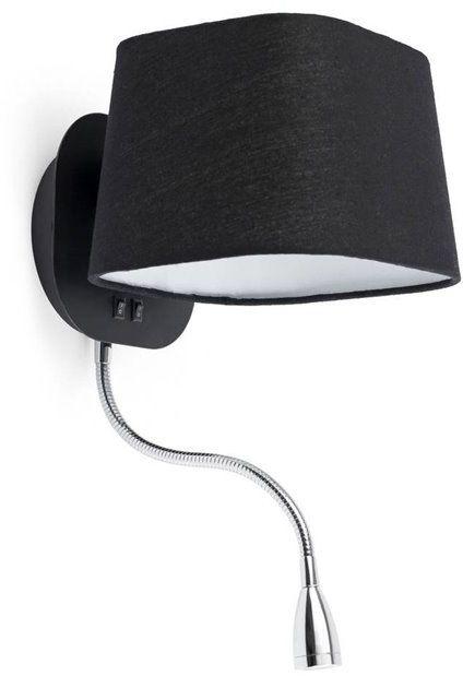 Sweet H45 czarny, chrom - Faro - lampa ścienna