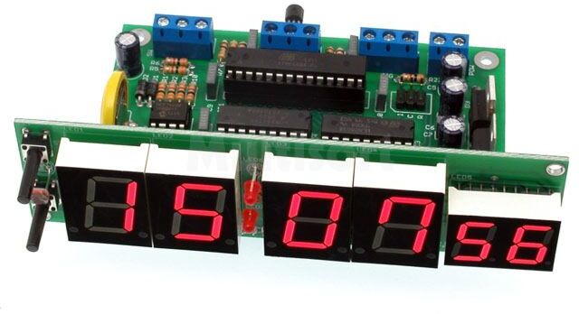 Zegar z wyświetlaczem 20mm ustawiany za pomocą GPS (do montażu)