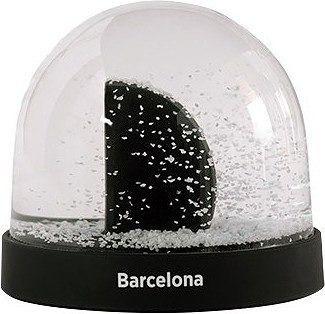Dekoracja śnieżna kula city icons barcelona