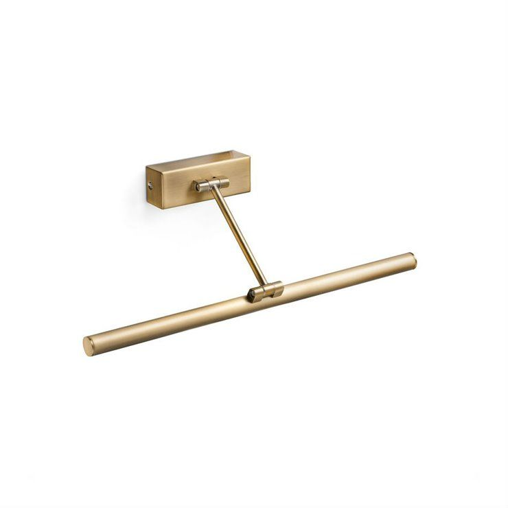 Magritte L45 złoty postarzany - Faro - lampa ścienna