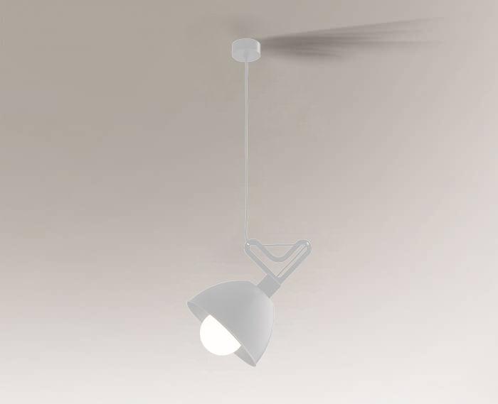 Lampa wisząca GOBO 7579 Shilo biały