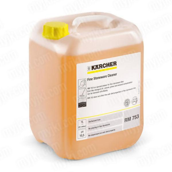 RM 753 (10L) Środek do czyszczenia płytek gresowych i ceramicznych, Karcher ZAPLANUJ DOSTAWĘ SKLEP SPECJALISTYCZNY KARTA 0ZŁ POBRANIE 0ZŁ ZWROT 30DNI RATY GWARANCJA D2D LEASING WEJDŹ I KUP NAJTANIEJ