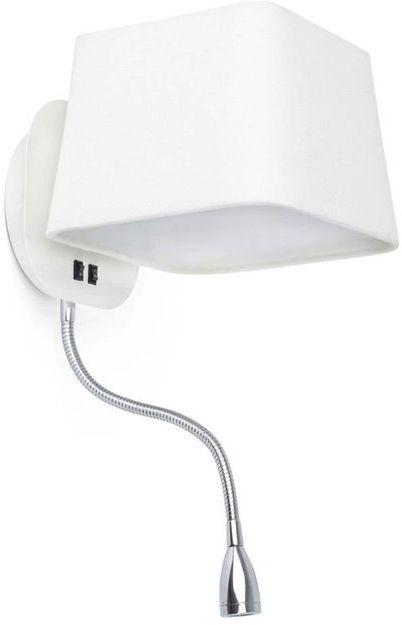 Sweet H45 biały, chrom - Faro - lampa ścienna