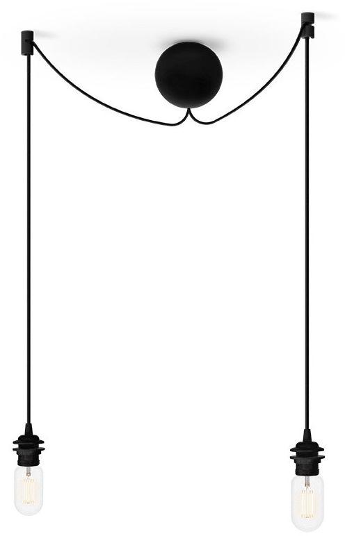 Zawieszenie do lamp Cannonball 4091 UMAGE podwójne zawiesie w kolorze czarnym