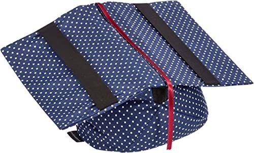 Klein & More Podpórka do książek Leselotte kropki niebieska poduszka do czytania do wygodnego czytania, bawełna, odpowiednia do popularnych rozmiarów książek