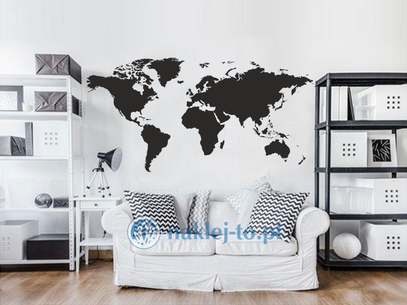Naklejka Mapa świata 1 naklejka na ścianę