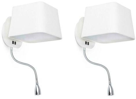 Sweet H45 biały, nikiel - Faro - lampa ścienna