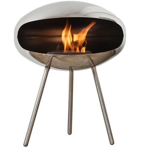 Biokominek Cocoon Terra Stainless Steel --- OFICJALNY SKLEP Cocoon Fires