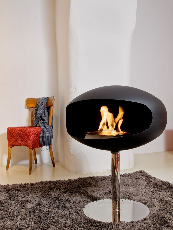 Biokominek Cocoon Terra Pedestal Black --- OFICJALNY SKLEP Cocoon Fires