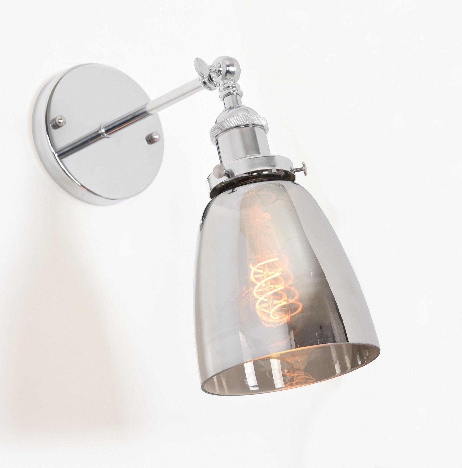 LAMPA ŚCIENNA KINKIET LOFTOWY FABI CHROM W1