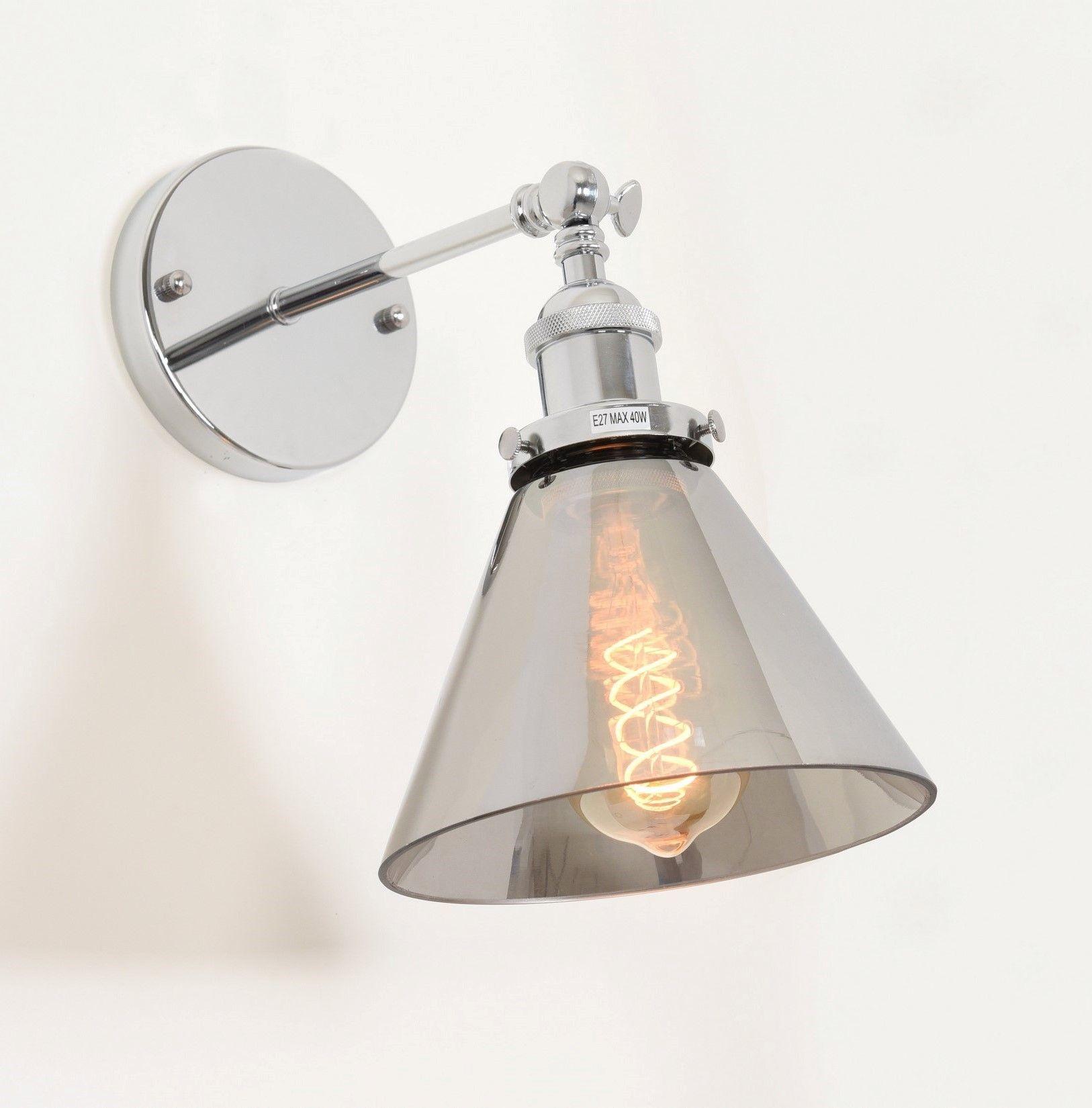 KINKIET LAMPA ŚCIENNA LOFT NUBI CHROM W1