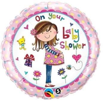 "Balon foliowy ""On Your Baby Shower"" 18"""