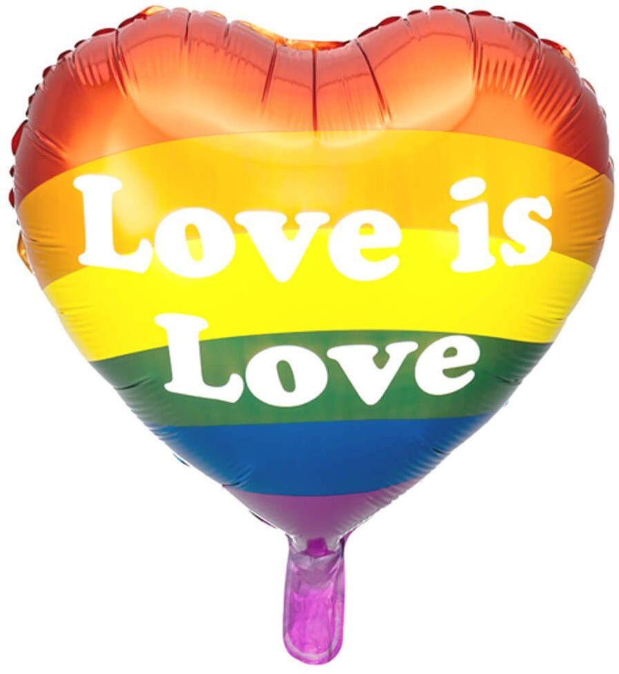 Balon foliowy Serce Love is Love - 35 cm - 1 szt.