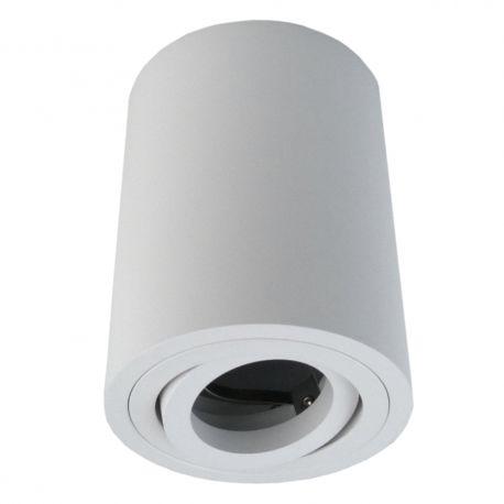 Oprawa sufitowa GU5.3 MR16 IP20 biała aluminiowa natynkowa dekoracyjna ruchoma tuba Sensa GTV 6776