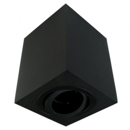Oprawa sufitowa GU5.3 MR16 IP20 czarny aluminiowa natynkowa dekoracyjna ruchoma kwadrat Sensa GTV 6899