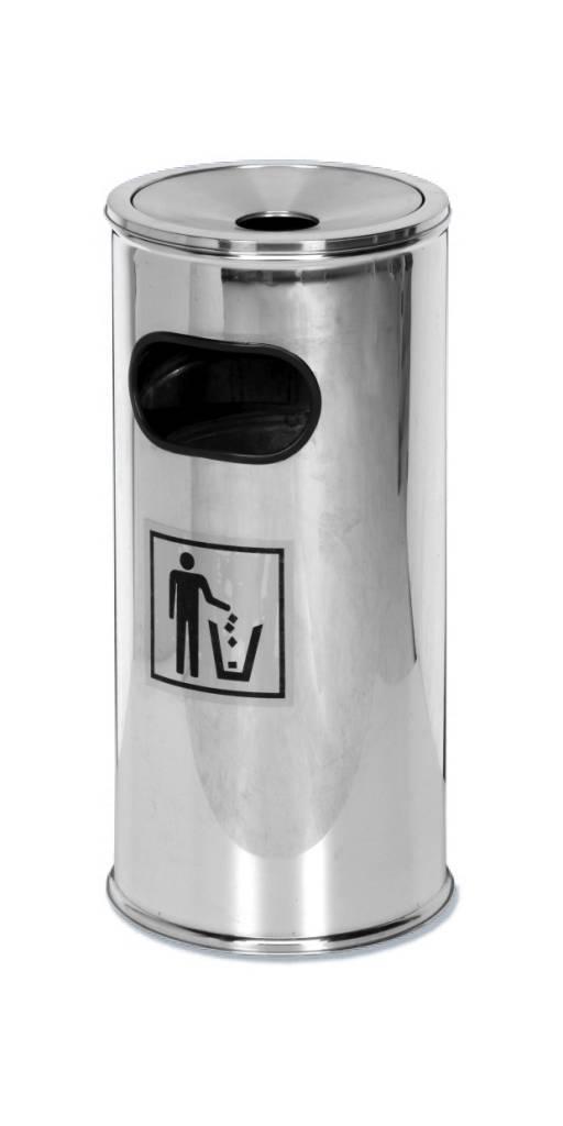 Kosz na śmieci/popielnica - stal nierdzewna - wys. 62 cm