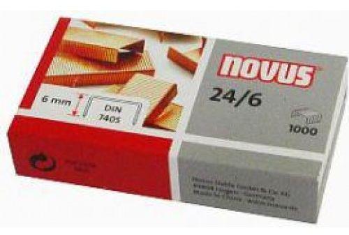Zszywki miedziowane NOVUS 24/6 x 1000 040-0206