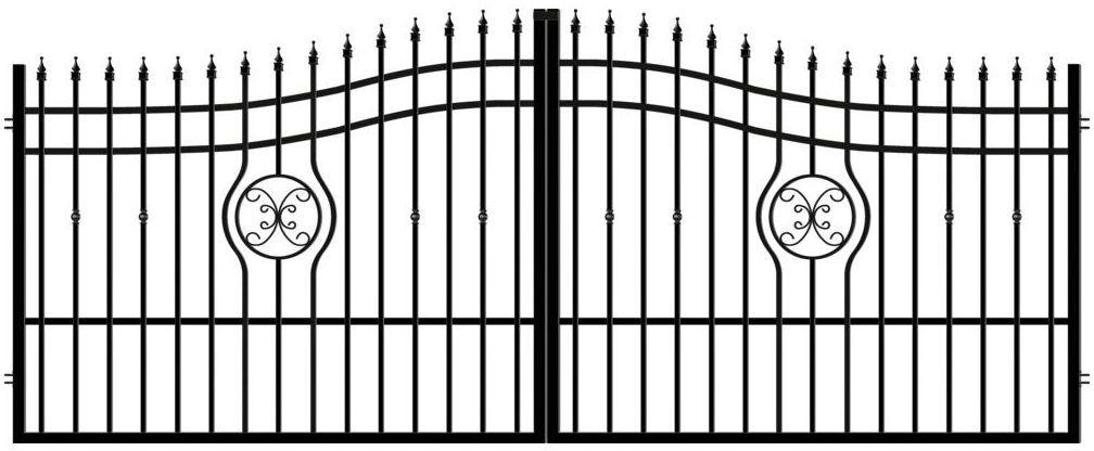 Brama dwuskrzydłowa MALAGA III 400 x 160 cm POLARGOS