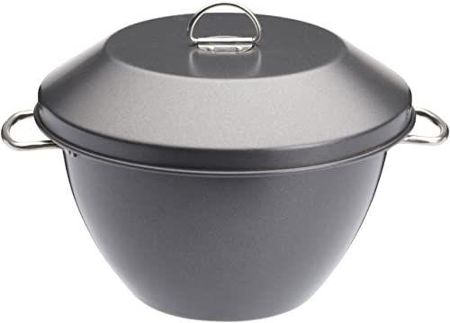 MasterClass nieprzywierająca miska do pudddingu/miska parowa z pokrywką, 2 litry (3,5 litry)