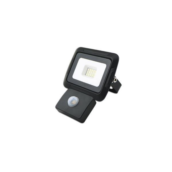 Naświetlacz LED czujnikiem 10W CZARNA ciepła 3000K LED2B