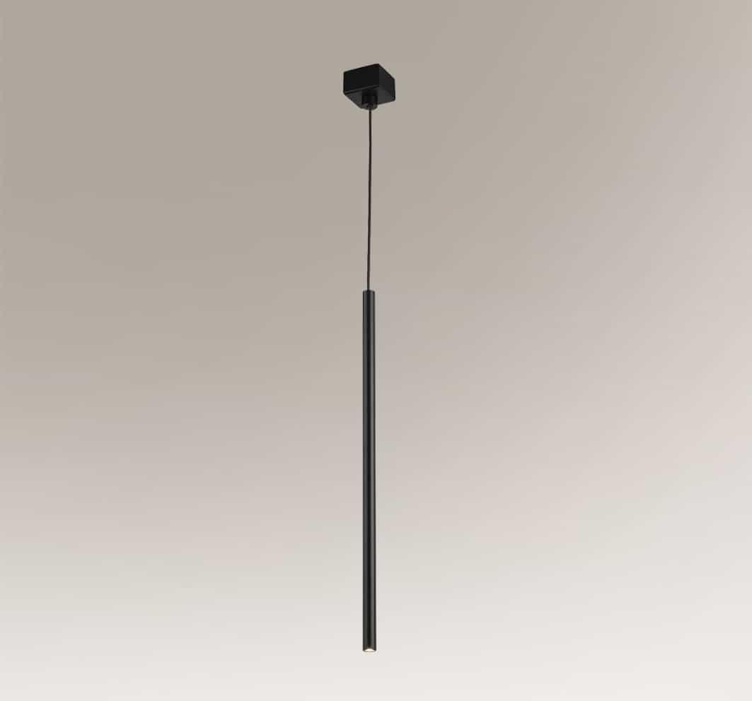 Kosame lampa wisząca minimalistyczna sopel zwis czarny tuba 7844 - Shilo // Rabaty w koszyku i darmowa dostawa od 299zł !