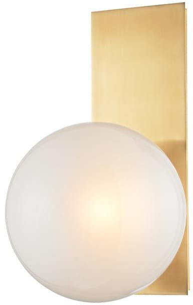 Ball At Plate - kinkiet mleczna kula
