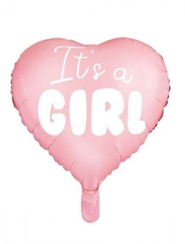 """Balon foliowy Serce """"It''s a Girl"""" różowy"""