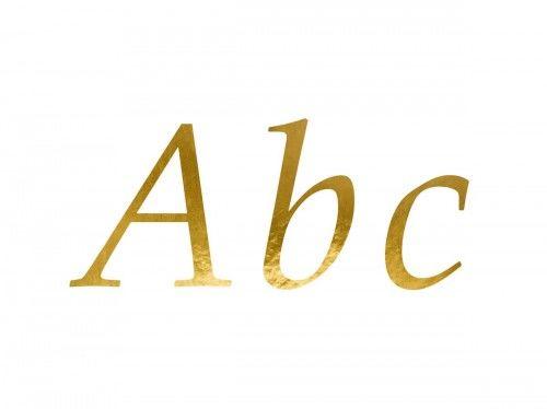 Naklejki Złote Litery
