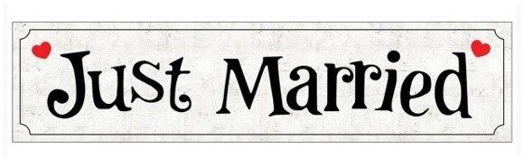 Tablica Rejestracyjna Just Married 1 sztuka TRJ