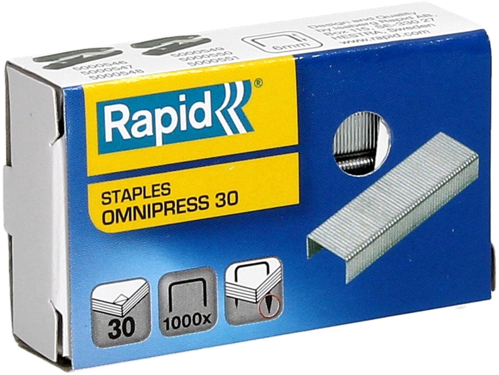 Zszywki 30 cynkowe (1000) Omnipress Rapid