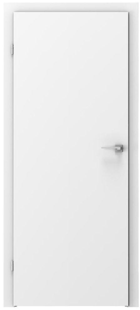 Skrzydło drzwiowe pełne Basic Białe 60 Lewe Voster