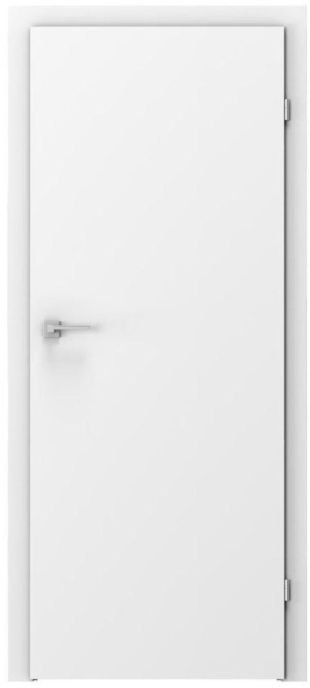 Skrzydło drzwiowe pełne Basic Białe 60 Prawe Voster