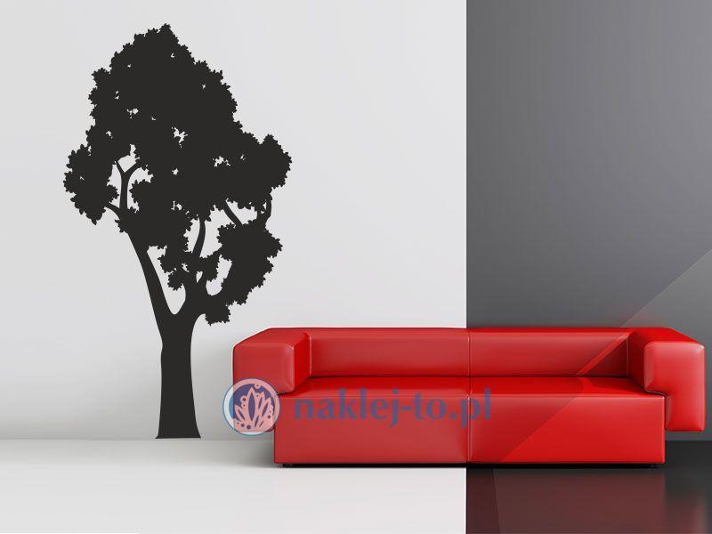 Drzewo gęsta korona naklejka dekoracyjna Naklejka na ścianę