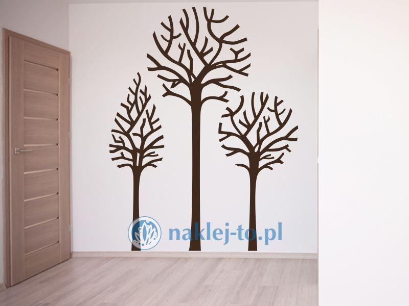 Drzewa naklejki 3szt. naklejka na ścianę