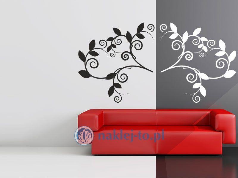 Gałązka ornament 1 naklejka na ścianę ornament