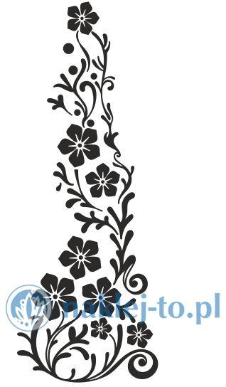 naklejka kwiatowy ornament 3 Seria kwiaty