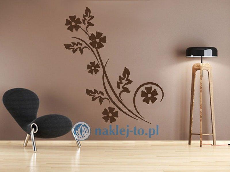 Kwiatowa gałązka 3 naklejka na ścianę naklejka