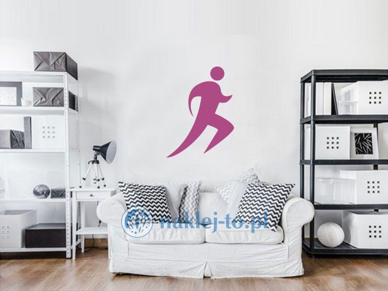 Biegacz naklejka naklejka na ścianę
